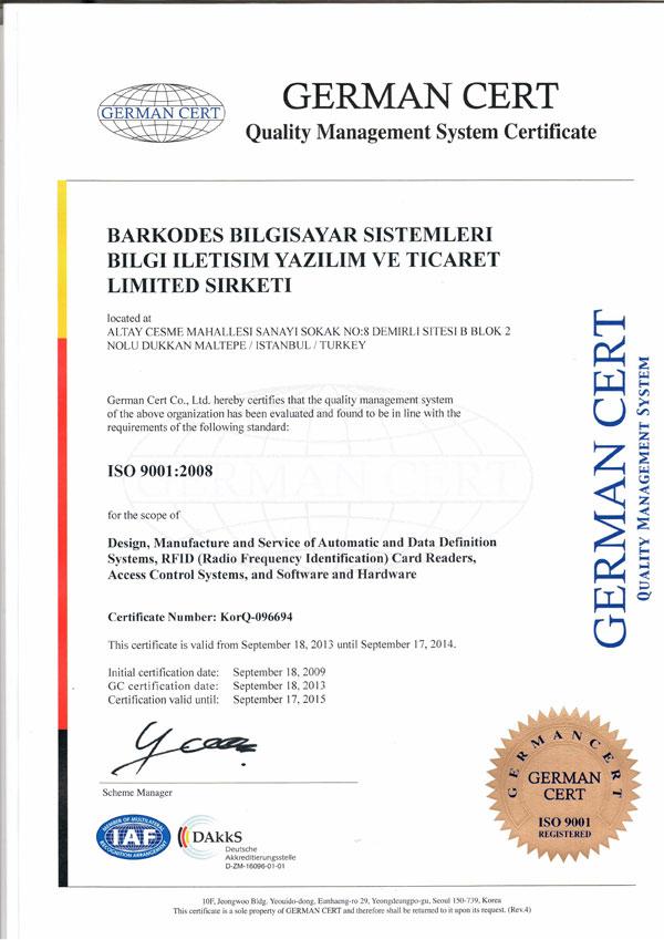 Barkodes Certificates Amp Documents Barkodes