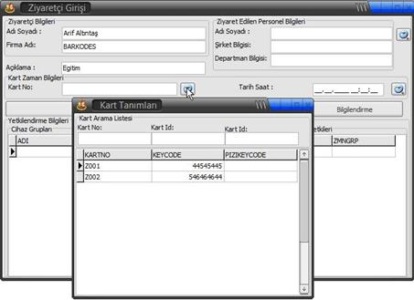 Ziyaretçi Kontrol Sistemi PDKS Personel Devam Kontrol Sistemi